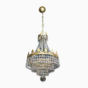 Kleiner Kristallglas Kronleuchter, 1980er