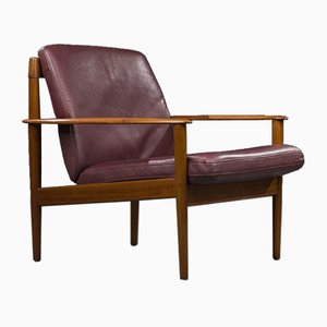 Mid-Century Danish Model 56 Lounge Chair by Grete Jalk for Poul Jeppesens Møbelfabrik, 1960s