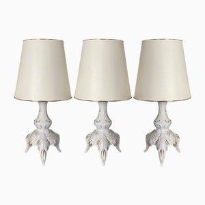 Lampes de Bureau en Porcelaine par Daniela Weiß pour Lindner, 1980s, Set de 3