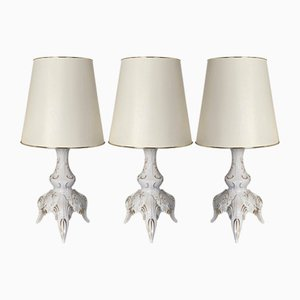 Porcelain Table Lamps by Daniela Weiß for Lindner, 1980s, Set of 3