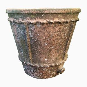 Large Vintage Bohemian Terracotta Flowerpot