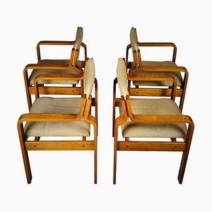 Dining Chairs by Ludvik Volak, 1960s, Set of 4