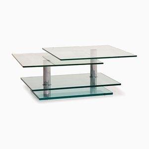 K500 Glas und Chrom Couchtisch von Ronald Schmitt