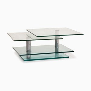 K500 Glass and Chrome Coffee Table by Ronald Schmitt