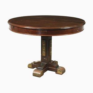 Navy Style Mahogany Table, 1950s