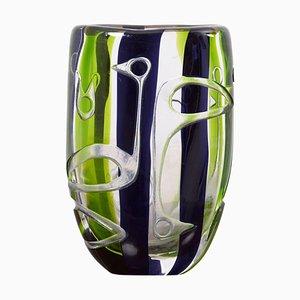 Vase von Vicke Lindstrand für Kosta Glasworks, 1960er