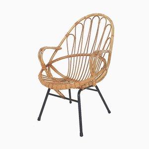 Bambus Sessel von Rohe Noordwolde, Niederlande 1950er