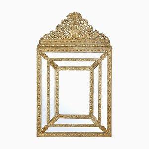 Late 19th Century Ornate Brass Cushion Mirror