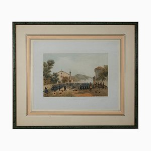 Ferdinando Perrin, Verteidigung von Varese von Giuseppe Garibaldi, Lithografie, 1860