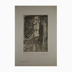 Carlo Carra, After the Bath, Etching, 1924