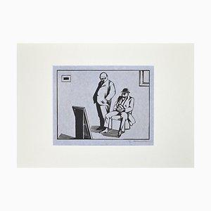 Stampa Hermann-Paul, The Collector, xilografia, 1925
