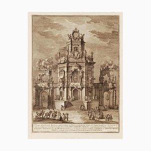 Giuseppe Vasi - Artificial Fire Machine - Original Etching by Giuseppe Vasi - 1776