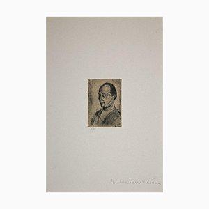 Giuseppe Viviani, Self-Portrait, Etching, 1983 (1931)