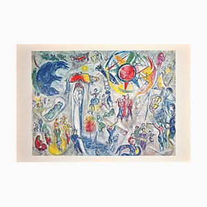 Lithographie Marc Chagall, La Vie, 1968