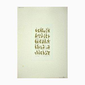 Leo Guida, Idols, Radierung auf Papier, 1986