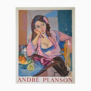 Andre Planson, Frau, Vintage Offsetdruck, 1960