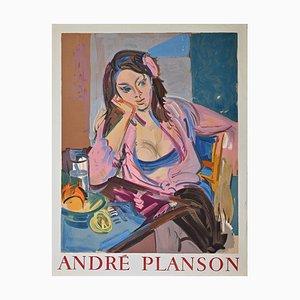 Andre Planson, Woman, Vintage Offset Print, 1960