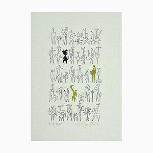 Leo Guida, Idols, Druck auf Karton, 1986