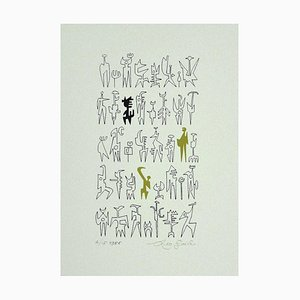 Leo Guida, Idols, Print on Cardboard, 1986