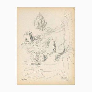 Serge Fontinsky, Sketch, Pencil, Mid-20th Century