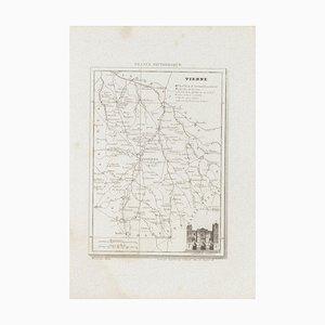 Unbekannt, Karte von Vienne, Radierung, 19. Jahrhundert