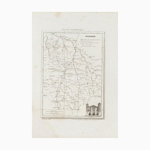 Unknown, Map of Vienne, Etching, 19th Century