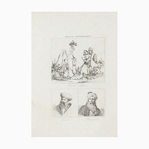 Unknown, Costumes and Portraits, Lithograph, 19th Century