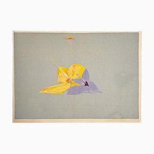 Lithographie, La Fleur, Piero Guccione, Fin 20ème Siècle
