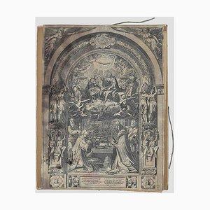 Federico Zuccari, Christus, Jungfrau Maria und Heiliger Geist, Radierung, 1650