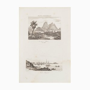Unknown, The Three Drumsticks Carbet / Fort Royal, Etching, 19th Century