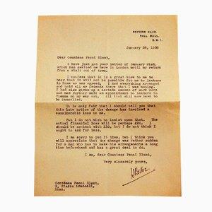 Hilaire Belloc, Brief von Hilaire Belloc An die Gräfin Pecci Blunt, 1938
