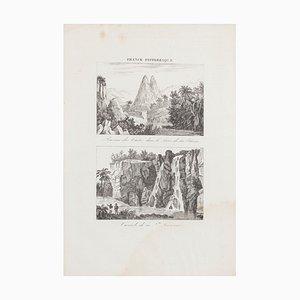 Unknown, Cascade De La Suzanne, Radierung, 19. Jahrhundert