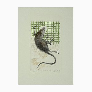 Leo Guida, The Rat, Etching on Paper, 1973