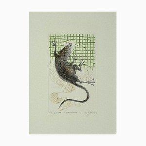 Leone Guida, The Rat, Incisione su carta, 1973