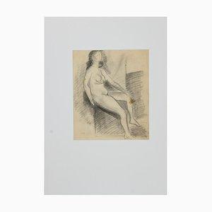 Unbekannt, Weiblicher Akt, Bleistiftzeichnung, 19. Jahrhundert