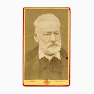 Unknown, Portrait of Victor Hugo, B/W Postcard, 1870s