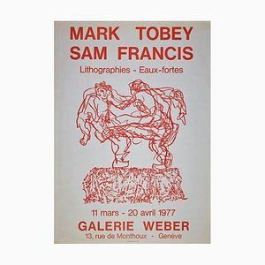 Mark Tobey, Mark Tobey and San Francis Poster, Vintage Offset, 1977