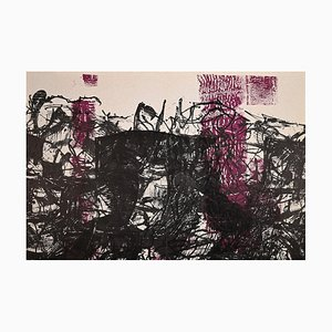 Jean-Paul Riopelle, Black and Violet Composition, Lithograph, 1968