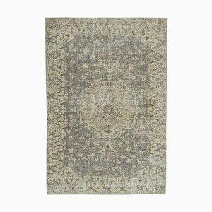 Türkischer Vintage 6x9 Beigboden Teppich
