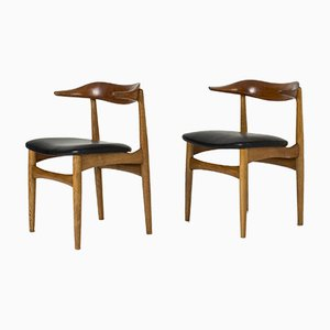 Cowhorn Chairs by Knud Færch, Set of 2