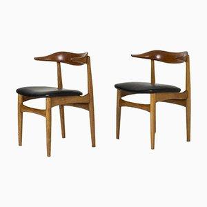 Cowhorn Stühle von Knud Færch, 2er Set