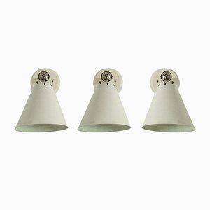 Wandlampen von Asea, 3er Set