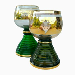 Vintage Music Wine Glass from Reuge