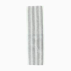 3x8 Vintage Turkish Kilim Oushak Handmade Wool Runner Rug