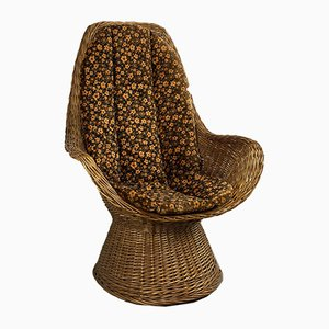 Wicker Chair With A High Back