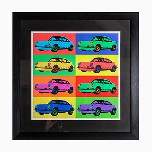 Porsche 911 Rs 1973 Pop Art Print