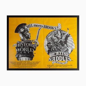 Movie Poster Blazing Saddles with Mel Brooks