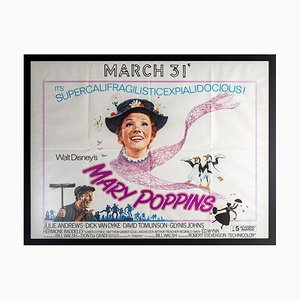 Mary Poppins British Cinema Poster, 1970s