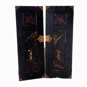 Alte handbemalte chinesische Türen