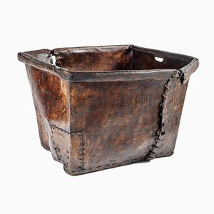 Large Leather Mill Basket
